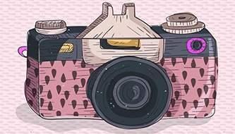 Подборка векторных клипартов фото и видеокамер