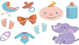 Бесплатный векторный клипарт на тему рождения ребёнка