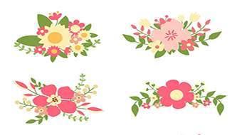 Бесплатная коллекция векторных цветов