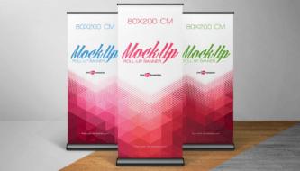 Бесплатные Mockups файлы реалистичных баннеров