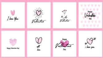 15 крутых векторных открыток ко дню Св. Валентина