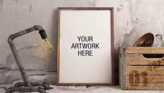 Подборка лучших бесплатных MockUp файлов на тему Постеры