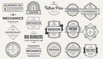 Бесплатные винтажные логотипы (PSD)