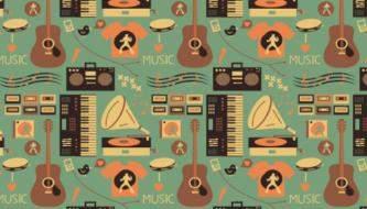Подборка Музыкальных Паттернов для дизайнеров